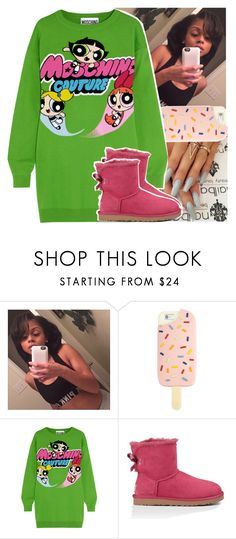 """""""goodnight polyvore😽"""" by daeethakidd ❤ liked on Polyvore featuring Tory Burch, Moschino and UGG Australia"""