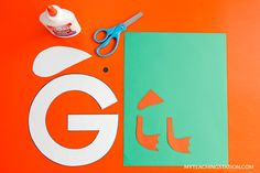 Letter G Craft Materials for Making an Goose