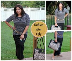 Fashion after Fifty & last day of being 52! #ootd #dressforless #fashionafter50 #maxiskirt #leopard #stripes #DelawareBlogger @dedivahdeals