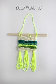 Weaving Lesson with Rachel Denbow of Smile and Wave. #weaving #tutorial