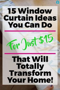 These ideas are just what you need to update that window in your room.