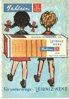 Uns gab Mama nie #Kekse in die Schule mit. :( Werbung für Leibniz-Keks von #Bahlsen von 1969