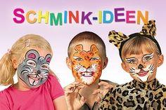 """""""Und als was gehst du?"""" - Kinder schminken sich an Fasching besonders gerne. Ob als Löwe oder Pirat - wir haben Schritt-für-Schritt-Anleitungen für Sie zum Kinderschminken."""