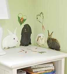 easter decoration- enchanting-rabbits-wall-decor