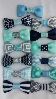 Bow tie party favors by CreationsbyTraysa on Etsy, $24.00