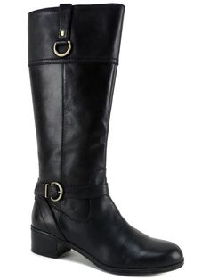 Bandolino Women's Carmine Tall Riding Boots Black Leather 7.5 (B, M) #Bandolino #RidingEquestrian #RidingCasualDress