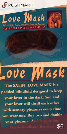 Soft & silky satin blindfold. Love Mack keep your lover in the dark!  Bundle your mask with a sexy intimate apparel Other