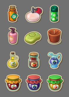 ArtStation - Icons for Township, Playrix, Tetyana Zhuravska