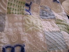 Love the idea of texture on the blanket - great way to recycle old chenille bedspreads.