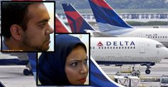 """While a Muslim couple was taking their seats on a Delta flight, they thought it would be a good idea to flaunt their religion in the faces of other passengers by repeating the word """"Allah."""" However, as soon a flight attendant noticed what they were doing, he responded in a brilliant way that immediately put their religious supremacy in check."""