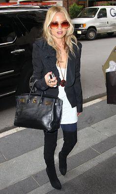 fall outfit inspiration @Rachel Zoe... knee high boots + blazer #zoecitychic #newyork