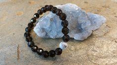 Grounding Handmade Stretch bracelet Smoky quartz by CreationsJeiki