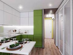 дизайн кухни-гостиной 18,62 кв. м.