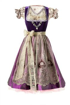 dirndl...omg!!...beautiful purple&pink!!