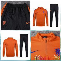 Survet De Foot Pays-Bas 2016-17 Orange Homme