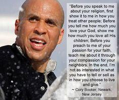 Cory Booker--Mayor of Newark, future president!!