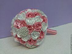 Купить Брошь-букет невесты - розовый, белый, брошь букет, брошь букеты, букет невесты