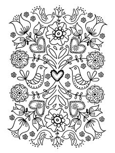 Flower Coloring Pages For Adults Printable - Free Coloring Sheets Adult Coloring Pages, Flower Coloring Pages, Printable Coloring Pages, Coloring Sheets, Printable Art, Coloring Books, Mandala Coloring, Simple Coloring Pages, Printable Flower