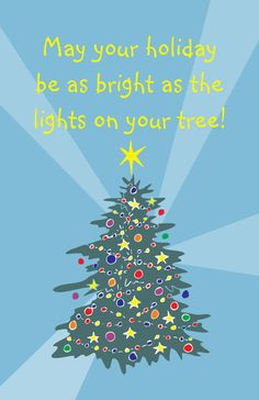 Christmas Card- Christmas Tree with lights and decorations by JennasCustoms, $3.00