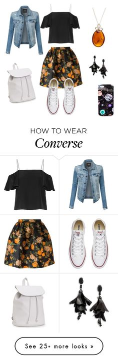 """Untitled #397"" by facummings on Polyvore featuring MSGM, Fendi, Aéropostale, Converse, Be-Jewelled, LE3NO, Nikki Strange and Oscar de la Renta"