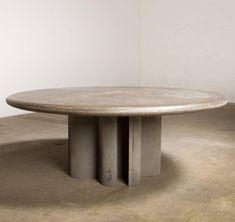 Brutalist Large Paul Kingma Slate Stone Art Work Coffee Table Signed P. Kingma '89 For Sale