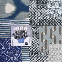A little Fabric for your Friday 🙌🏼💙🙌🏼 Featuring yours truly, @peterdunhamtextiles @johnrobshaw @lindsayalkerstudio #JillLemanArtist >> Tap for Tags << Our fabrics are available through our showrooms USA: @nickyrisingltd @studiofournyc @jamesshowroom Canada: @memo_showroom Australia: @ascraft_textiles