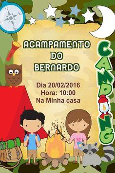 Convite digital personalizado Acampamento 006