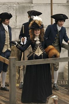 'The Duchess', 2008: Keira Knightley as Georgiana Cavendish, Duchess of Devonshire in her Blue Fox Uniform.
