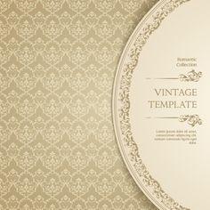 Ornate vintage template background vector 04