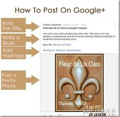How to post on Google+!  Great tips on how to bold text and use hashtags!