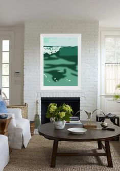 Modern seascape in shades of sea green. Sea wave print | Etsy Empty Wall Spaces, Relaxation Room, Sea Waves, Chiaroscuro, New Print, Affordable Art, Cool Artwork, Your Design, Beach House