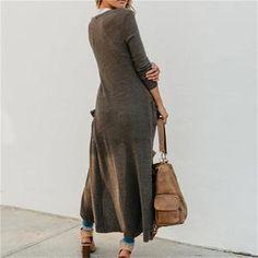 Long Sweater Coat, Long Cardigan, Long Sweaters, Knit Cardigan, M 4, Color Khaki, Ladies Fashion, Womens Fashion, Harem Pants