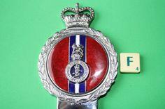 Royal-Devon-Yeomanry-Regiment-Military-Car-Badge-Enamel-J-R-Gaunt-Boxed-F