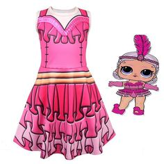 Girls Halloween Dress for L.O.L Doll Surprise  7f75fe0e648d