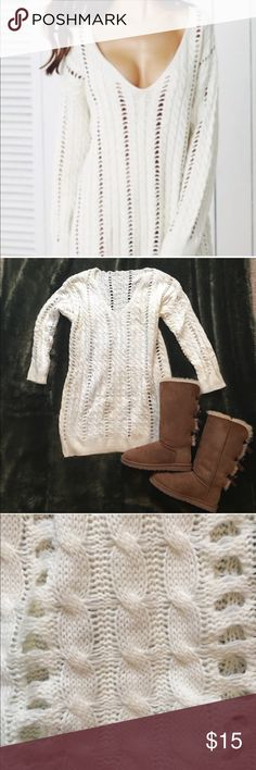🎉❤HP❤🎉 Cableknit Sweater Dress! OS, very cozy and warm. Made of thick and durable material. Dresses