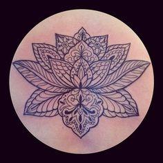 Mandala Tattoos for Women   Lotus Mandala Tattoo (lotus mandala tattoo).