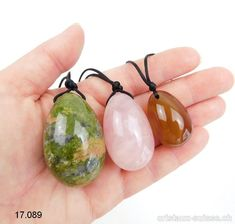 Lot 3 Oeufs YONI Unakite, épidote - Quartz rose - Cornaline Quartz Rose, Drop Earrings, Jewelry, Crystal, Carnelian, Pink Quartz, Minerals, Egg, Jewlery