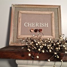 Two Frames glued together for a cherish frame. !5 minute project. http://countrydesignstyle.com