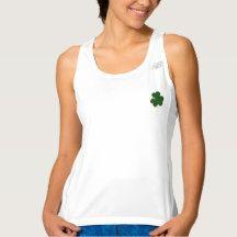 Happy St. Patrick's Day! Shamrock Irish Clover Top Workout Tank Top