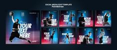 Basketball player instagram posts templa... | Free Psd #Freepik #freepsd