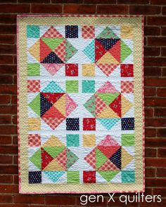 Gen X Quilters - Quilt Inspiration | Quilting Tutorials & Patterns | Connect: French Carnival Baby BoxStep Quilt