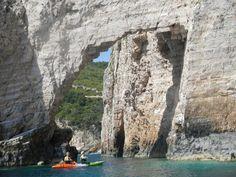 sea kayak in keri caves