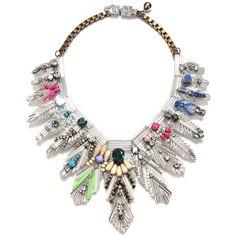 Shourouk Memphis Mega Necklace ($1,100) ❤ liked on Polyvore