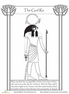 Egyptian Gods coloring sheets