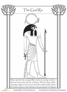 Worksheets: Egyptian God Ra