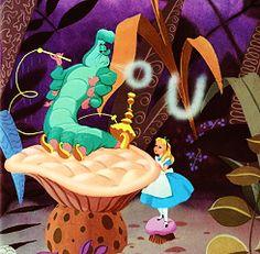 *THE CATERPILLAR & ALICE ~ Alice in Wonderland, 1951Who R U?