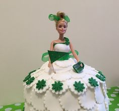 Beautiful Barbie-inspired cake made by Spencers' very own Hannah Riley Macmillan Coffee Morning, Barbie, How To Make Cake, 30th, September, Friday, Christmas Ornaments, Inspired, Holiday Decor
