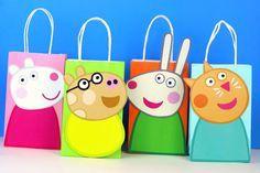 Peppa Pig Friends Favor Bag Instant Download (8 Different Friends)