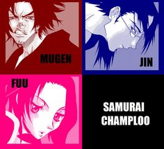 Mugen, Jin and Fuu by ShadowKira
