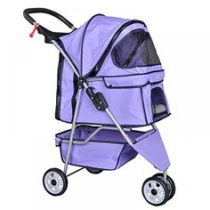 Purple Pet Stroller Cat Dog Cage 3 Wheels Stroller Travel Folding Carrier T13 BestPet http://www.amazon.com/dp/B00SGSCLIW/ref=cm_sw_r_pi_dp_FHAuvb03WZJB9